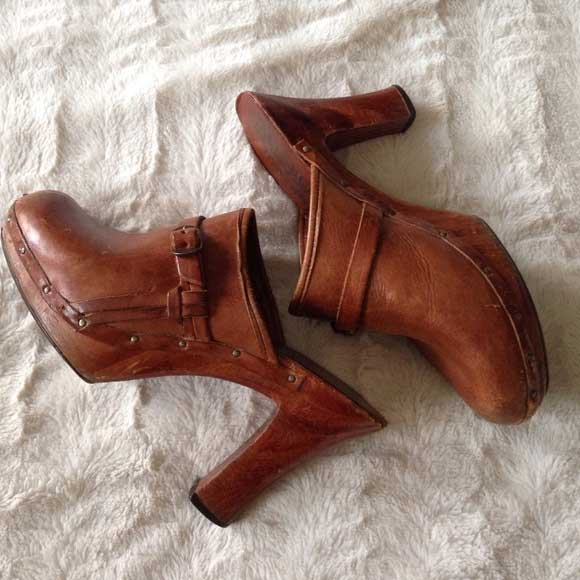 Quail craft leather and wooden heels